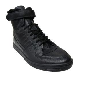 Кроссовки кожаные с мехом Динамо