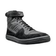Купить черные кроссовки Динамо кожаные