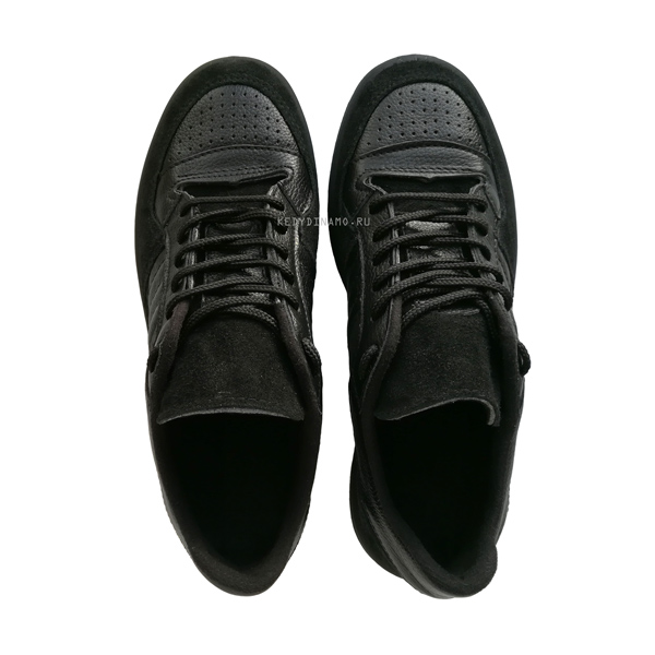 Черные кожаные кроссовки Динамо