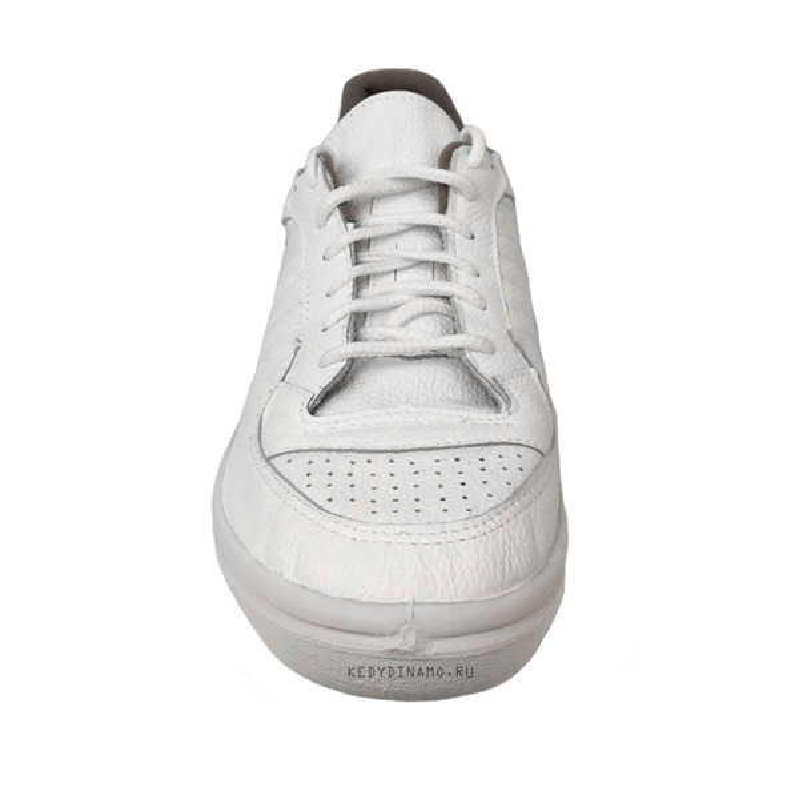 Купить белые кроссовки из кожи Динамо