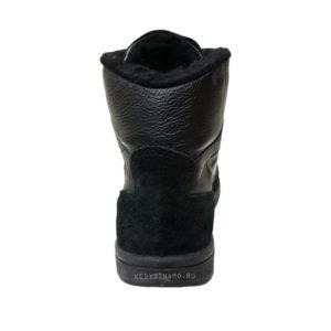 Кроссовки черные высокие с мехом