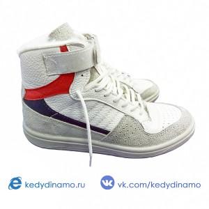 Кроссовки с мехом Динамо белые