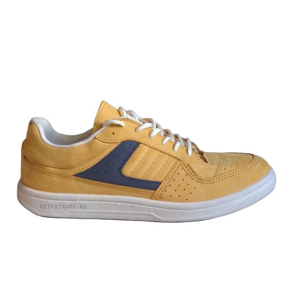 Кроссовки желтые кожаные