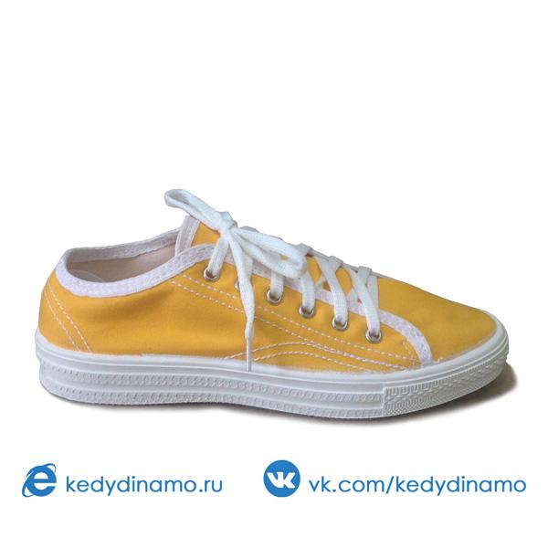 Желтые кеды женские