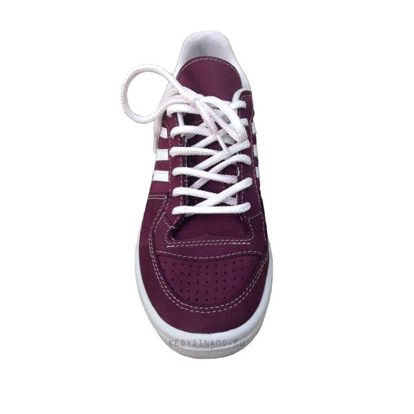 Кожаные бордовые кроссовки