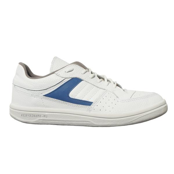 Бело-синие кроссовки