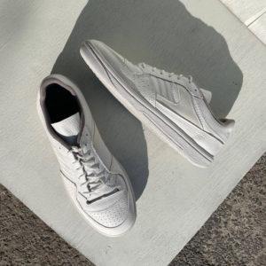 Белые кожаные кроссовки Гус-1К