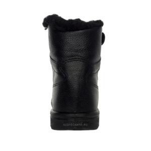 черные зимние кожаные кроссовки