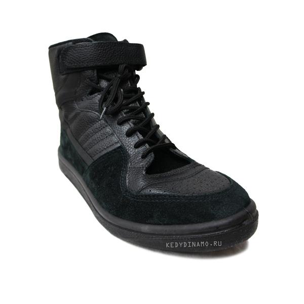 Купить черные высокие кроссовки