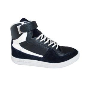 Высокие синие кроссовки