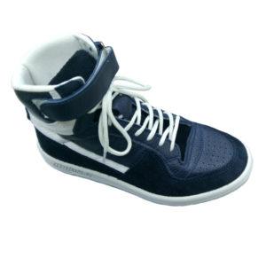 Купить кроссовки кожаные синего цвета