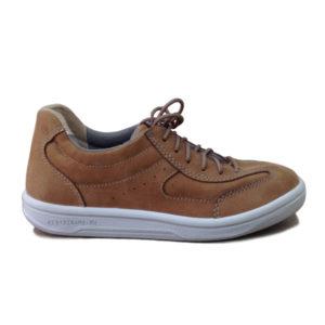 Коричневые кожаные кроссовки