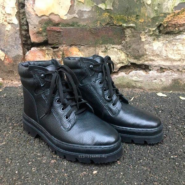 Купить кожаные зимние ботинки