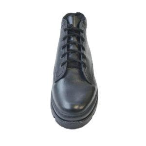 Зимние ботинки из кожи с мехом
