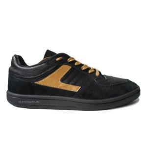 кроссовки черно золотые