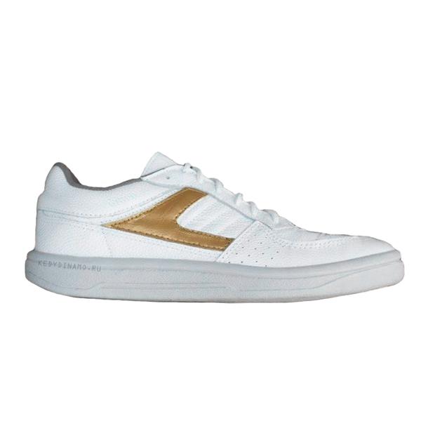Бело-золотые кроссовки